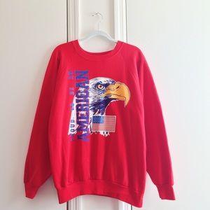 Eagle American Flag Red Sweatshirt